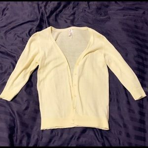 Sweaters - Yellow cardigan
